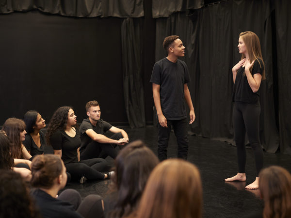 Male And Female Drama Students At Performing Arts Tgsabck
