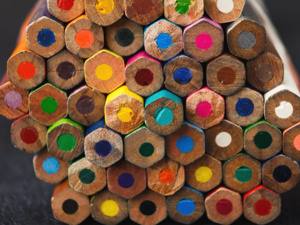 Stack Of Colorful Pencils Tips Art Background Ppp6 Urn