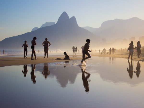 Sunset Ipanema Beach In Rio De Janeiro Brazil 3 L2 Pce2
